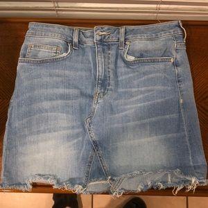 Denim skirt with light Jean wash size M Forever21